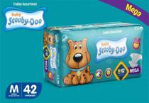 Kit Com 3 Pacotes Fraldas Scooby-doo Mega  Revenda Tam M Com 126 Unidades - Scooby-Doo Baby