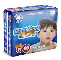Kit Com 3 Pacotes M Fraldas Nana Nenê Premium -