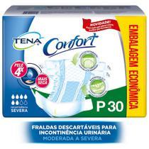Kit com 3 Pacotes Tena Confort Mega - P c/ 30 Und -