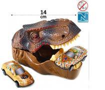 Kit com 3 peças 1 cabeça de dinossauro lançador 2 carrinhos de metal estampado - Ark Brasil
