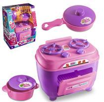 Kit com 3 Peças Cozinha com Fogão Panela e Frigideira Play Cooker - Kopeck