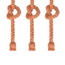 Kit com 3 pendentes corda para 1 lampada bocal e27 - bivolt - MBLED