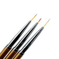 Kit Com 3 Pinceis Finos Para Nail Art - D&Z