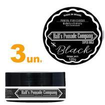 Kit com 3 - Pomada Hall's Company BLACK 120G - Kelma -