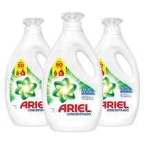 Kit Com 3 Sabão Líquido Ariel 50 Lavagens 2l -