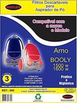 Kit com 3 Sacos Descartáveis Aspirador Arno Booly 1500w 1600w - Oriplast
