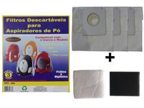 Kit Com 3 Sacos Descartáveis Aspirador De Pó Electrolux Neo + Filtros Motor - Oriplast