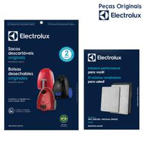 Kit com 3 Sacos SBENA Nano, NEO30 e NEO31 + Kit Filtros EFL01 para  Aspiradores  Electrolux -