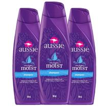 kit com 3 Shampoo Aussie Moist 180ml