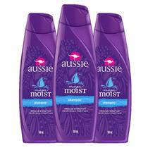 kit com 3 Shampoo Aussie Moist 180ml -