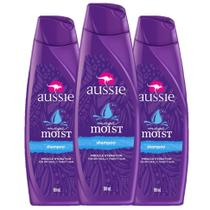 kit com 3 Shampoo Aussie Moist 180ml -