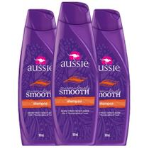 Kit com 3 Shampoos Aussie Miraculously Smooth 180ml