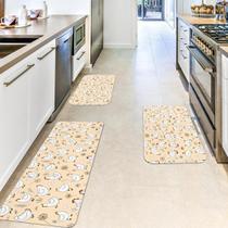 Kit com 3 Tapetes de Cozinha Mdecore Galinha Coral -