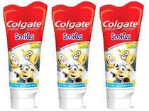 Kit com 3 Unidades de Creme Dental Infantil - Colgate Smiles Minions 100g Cada
