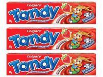 Kit com 3 Unidades de Creme Dental Infantil - Colgate Tandy Morangostoso 50g Cada
