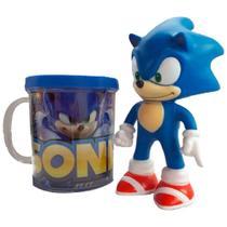 Kit Com 30 Bonecos Sonic Sega Coleção + Caneca Personalizada - Super Size Figure Collection