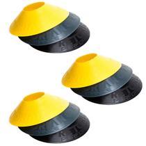Kit com 36 Half Cones Chapéu Chinês para Treino de Agilidade Pretorian Performance HC-PP -
