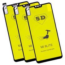 Kit com 3x Películas de Gel 5D P/ Mi8 Lite Mi 8 Lite Full Cover - Mmstoree