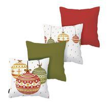Kit com 4 Almofadas de Natal Bolas - Armonizzi Store