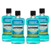 Kit com 4 Antisséptico Bucal Listerine Cool Mint Leve 500ml Pague 350ml -