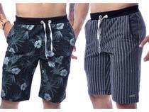 Kit Com 4 Bermudas Shorts Moletom Masculinas Premium - Equilibrio - Equilibrium