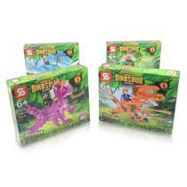 Kit com 4 Bloco de Montar Dinossauro / Lego Jurassic World 760 Pcs 6+ SY -