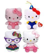 Kit Com 4 Bonecas De Pelúcia Hello Kitty - Ty Dtc