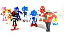 Kit com 4 Bonecos Articulados Sonic Generation -