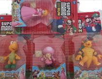 Kit com 4 bonecos turma do SUPER MARIO RUN - Brinquedo