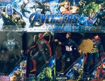 Kit com 4 bonecos vingadores - Pantera Negra - Homem Aranha - Capitão América - Doutor Estranho - Avengers
