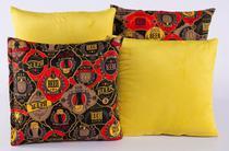 Kit Com 4 Capas Para Almofadas Decorativas De Sofá 40x40 Amarelo - Casahome