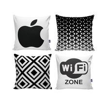 Kit com 4 Capas para Almofadas Decorativas de Sofá Iphone - Nsw