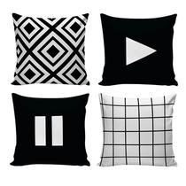 Kit com 4 Capas para Almofadas Decorativas de Sofá Play - Nsw