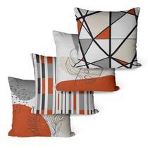Kit Com 4 Capas Para Almofadas Decorativas Terracota - Decoradois