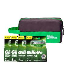 Kit com 4 Carga Gillette Mach3 Sensitive c/ 2 unidades + Brinde Necessaire -