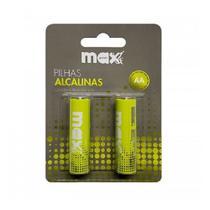 Kit com 4 cartela de Pilha Max print Alcalina AA Com 02 unidades cada  Ref 22099 - MAXPRINT