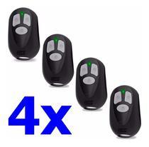 Kit com 4 Controles Remoto Portão Eletronico Rcg Seg Garen Ppa AGL -