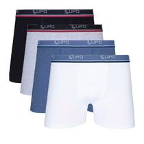 Kit Com 4 Cuecas Boxer Cotton Confort 523-002 - Lupo