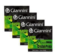 Kit com 4 Encordoamentos Giannini MPB para Violão Nylon -