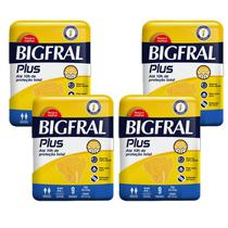 KIT com 4 Fralda Bigfral Plus Geriátrica -
