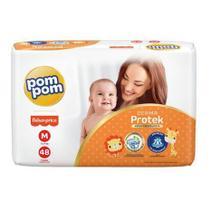 Kit com 4 fraldas pompom confort fit m -