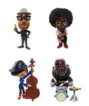 Kit com 4 Mini Figuras Soul - Banda de Jazz - Disney Pixar Minis - Mattel -