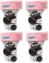Kit com 4 Pacotes de Lixas Descartáveis para Pedicuro Mega Bell - Total de 48 Lixas -