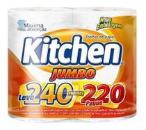 Kit com 4 Papel Toalha Kitchen Jumbo Revenda -