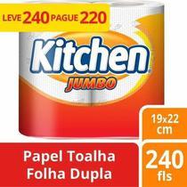 Kit com 4 Papel Toalha Kitchen Jumbo -