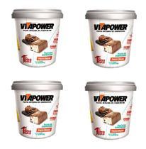 Kit com 4 Pasta de Amendoim Press Cream Vitapower 1,005 Kg -