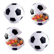 Kit com 4 Porta Mix Bola de Futebol Pote de Doces para Festas - Plasútil