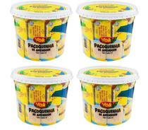 Kit com 4 Potes Paçoca Tablete de Amendoim Yoki 1,1 Kg sendo 22g cada -