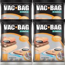 Kit com 4 Sacos À Vácuo VAC BAG Ordene Grande 55X90 Protetor Roupas -