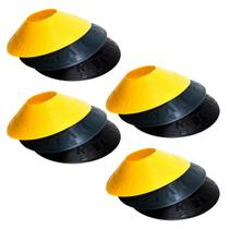 Kit com 48 Half Cones Chapéu Chinês para Treino de Agilidade Pretorian Performance HC-PP -